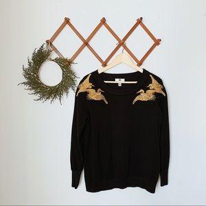 altuzarra for target gold trim sweater
